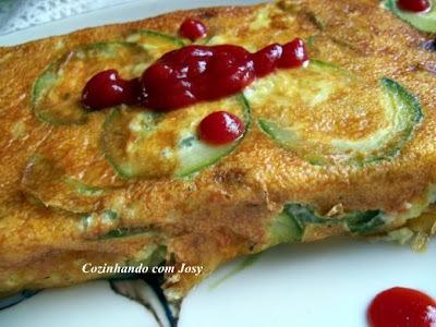 Omelete de Abobrinha no Forno