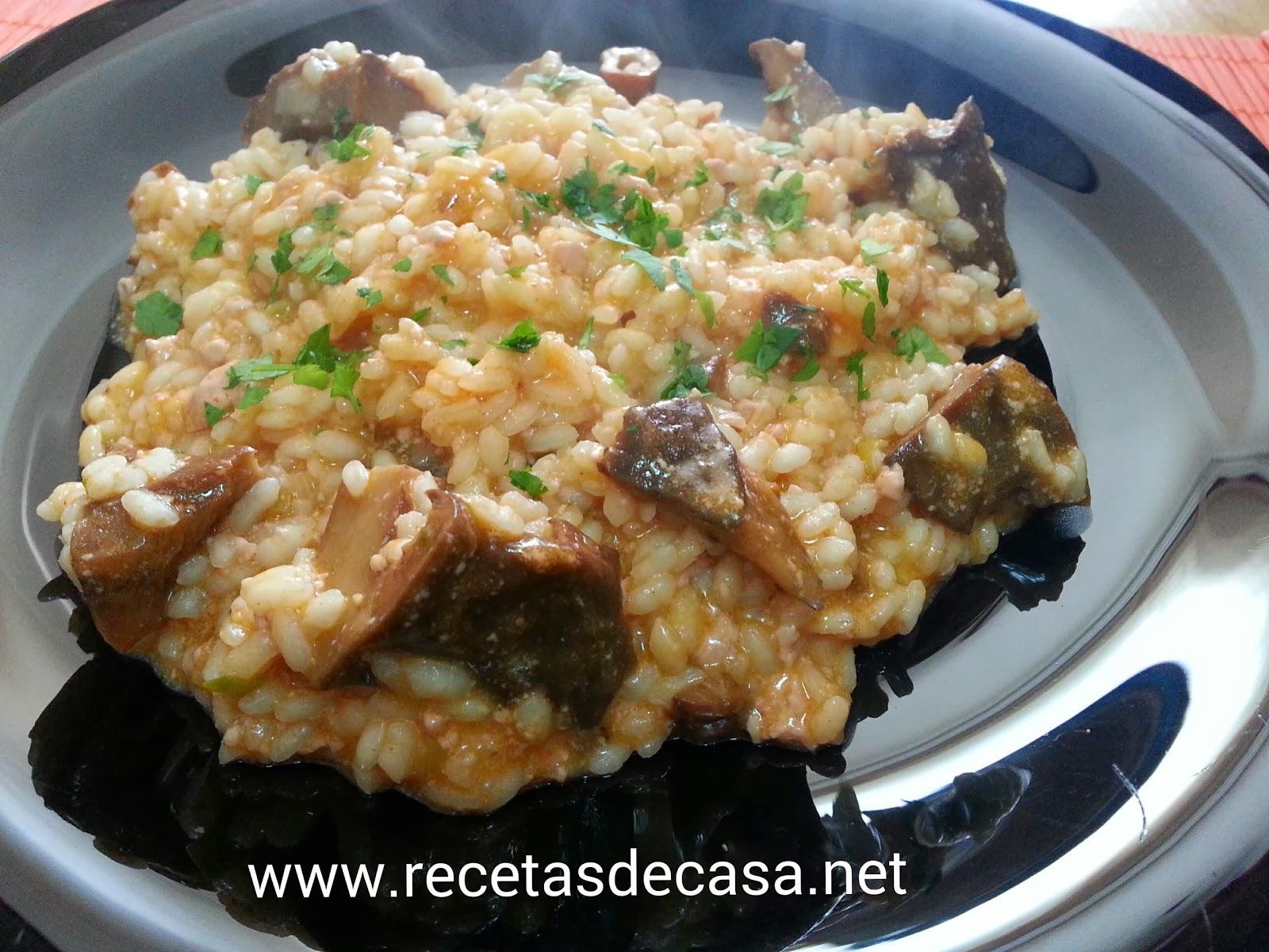 Risoto con mousse de pato, parmesano y níscalo