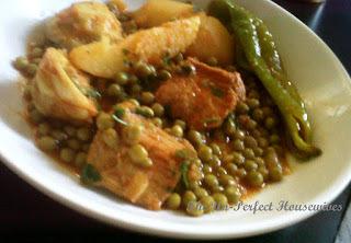 "Tunisian Green Pea & Artichoke Stew, ""Jelbana"""