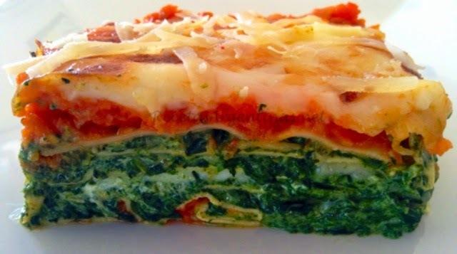 Lasagna de ricota y espinaca