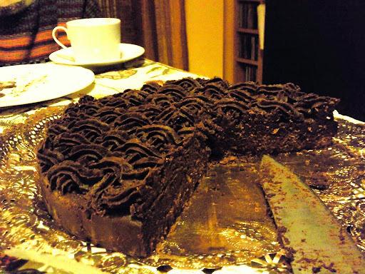 Tarta de trufa: (chocolate, receta casera)