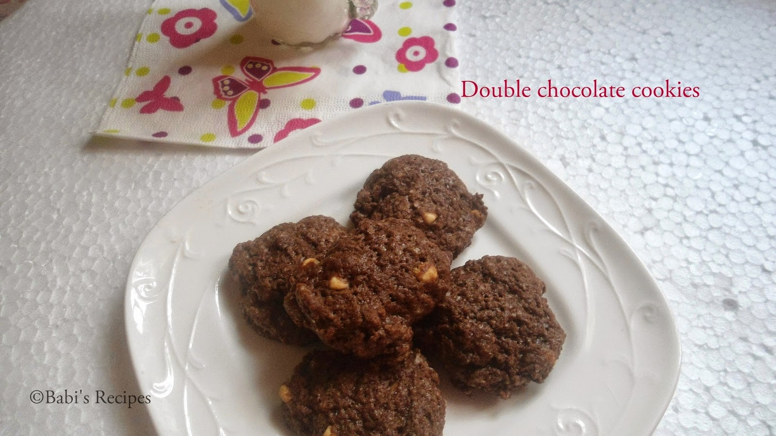 Double chocolate  cookies | Eggless cookies