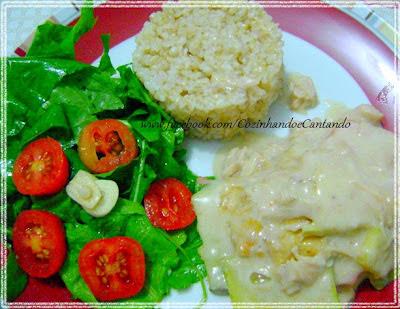 de salada de legumes para acompanhar lasanha
