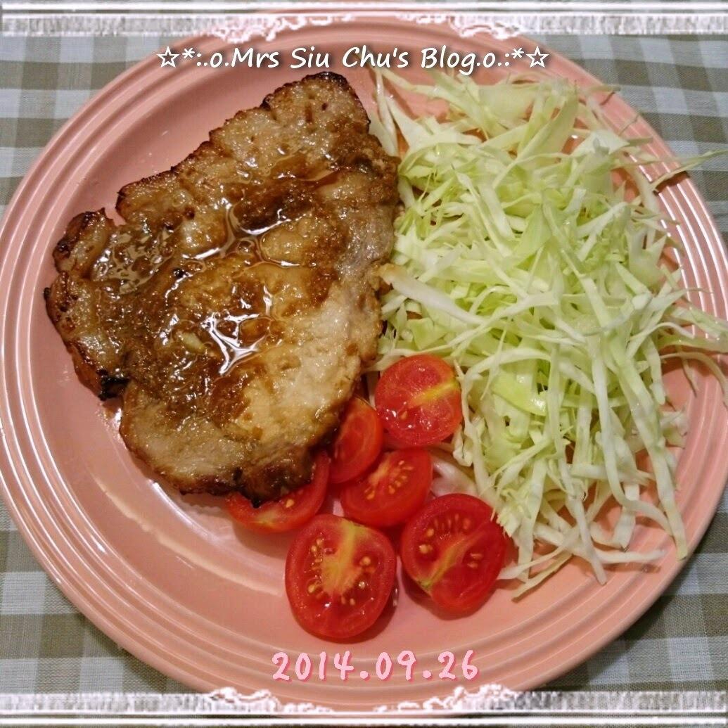 黑豚扒生薑燒 黒豚ステーキの生姜焼き [Toshiba ER-GD400HK水波爐, 附食譜]