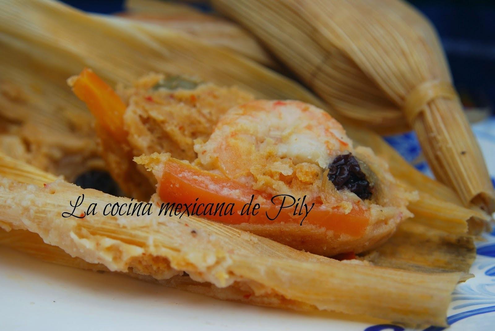 Tamales de camarón estilo Sinaloa