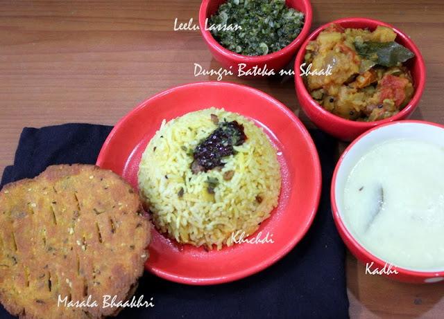 Gujarati Dinner  Kadhi Khichdi