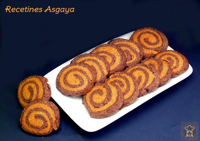 Espirales de Naranja y Chocolate