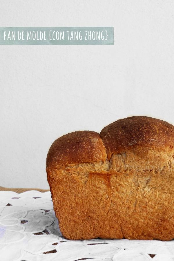 pan de molde semi-integral de espelta y trigo {con tang zhong} para un concurso