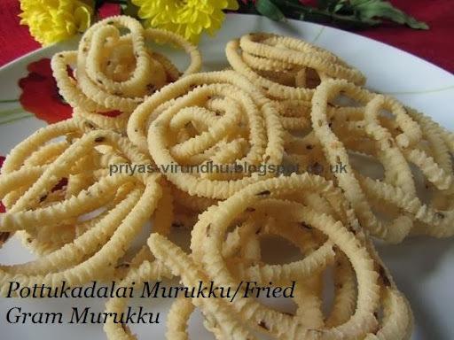 Pottukadalai Murukku/Fried Gram Murukku