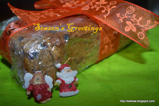 Christmas Fruit cake - an alcohol and egg free cake to indulge in some Holiday Gluttony