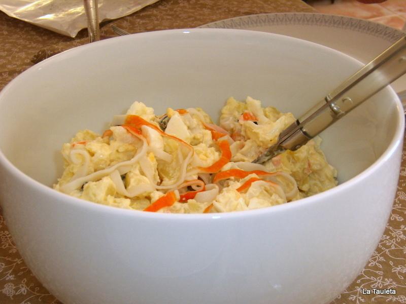 Ensalada de huevo, patata y cangrejo - El día de las cuatro estaciones sin Vivaldi