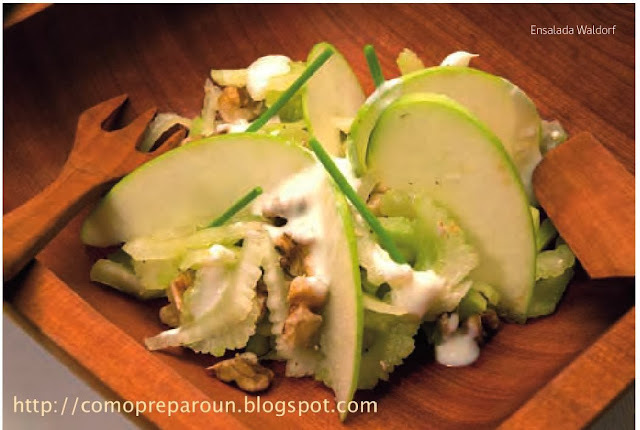 Como preparo una ENSALADA WALDORF - Receta  - Comida saludable - Recipes
