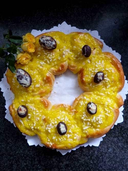 rosca de pascua versión roll   receta de doña petrona