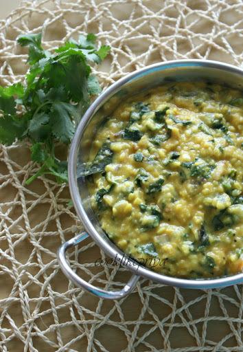 Palak Dal | Spinach Moong Dal | Keera Parrupu