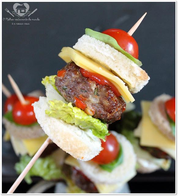 Mini-hamburgueres para festas