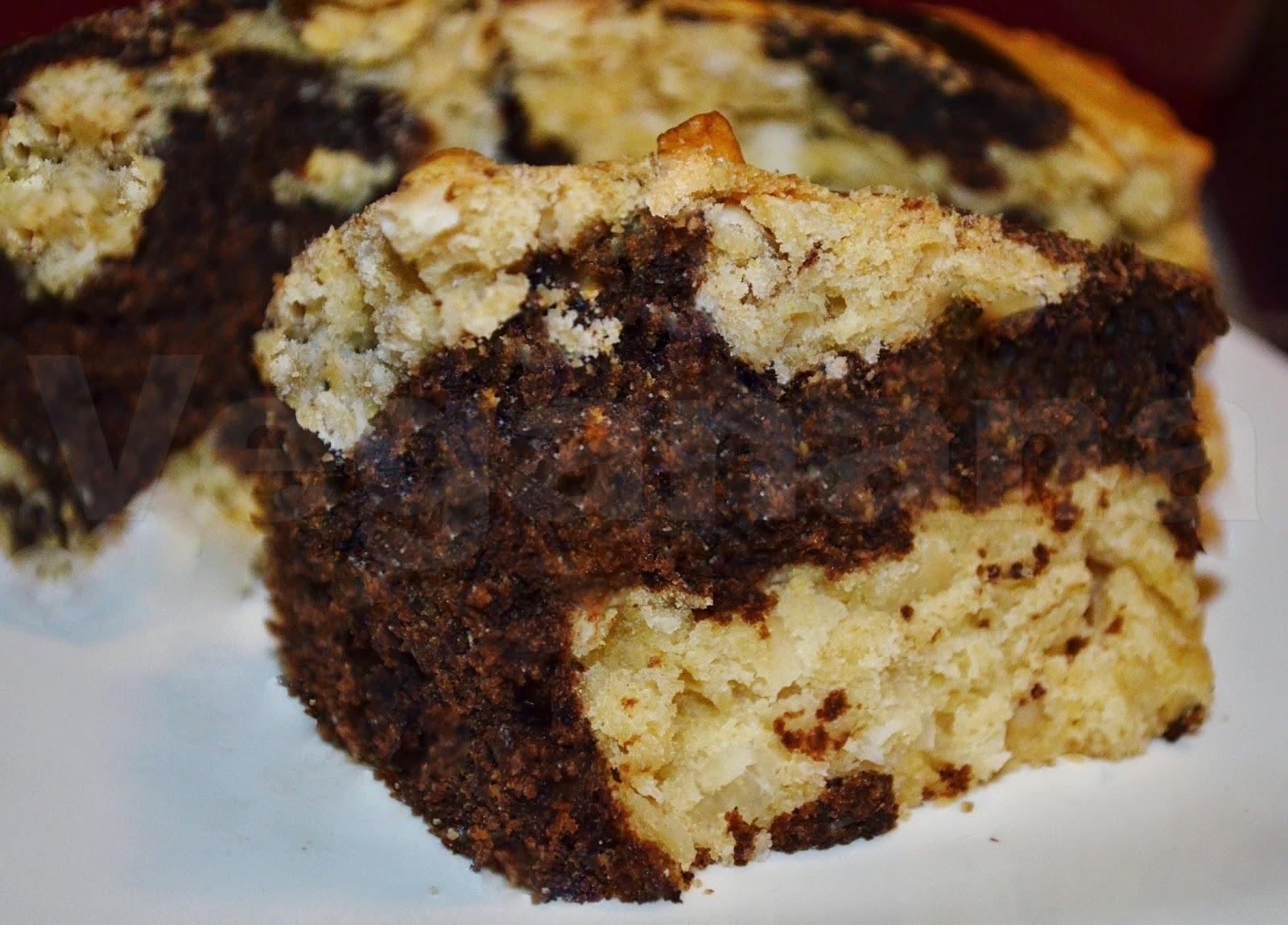 bolo simples duas cores