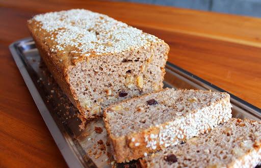 bolo com farinha integral açucar magro e castanha
