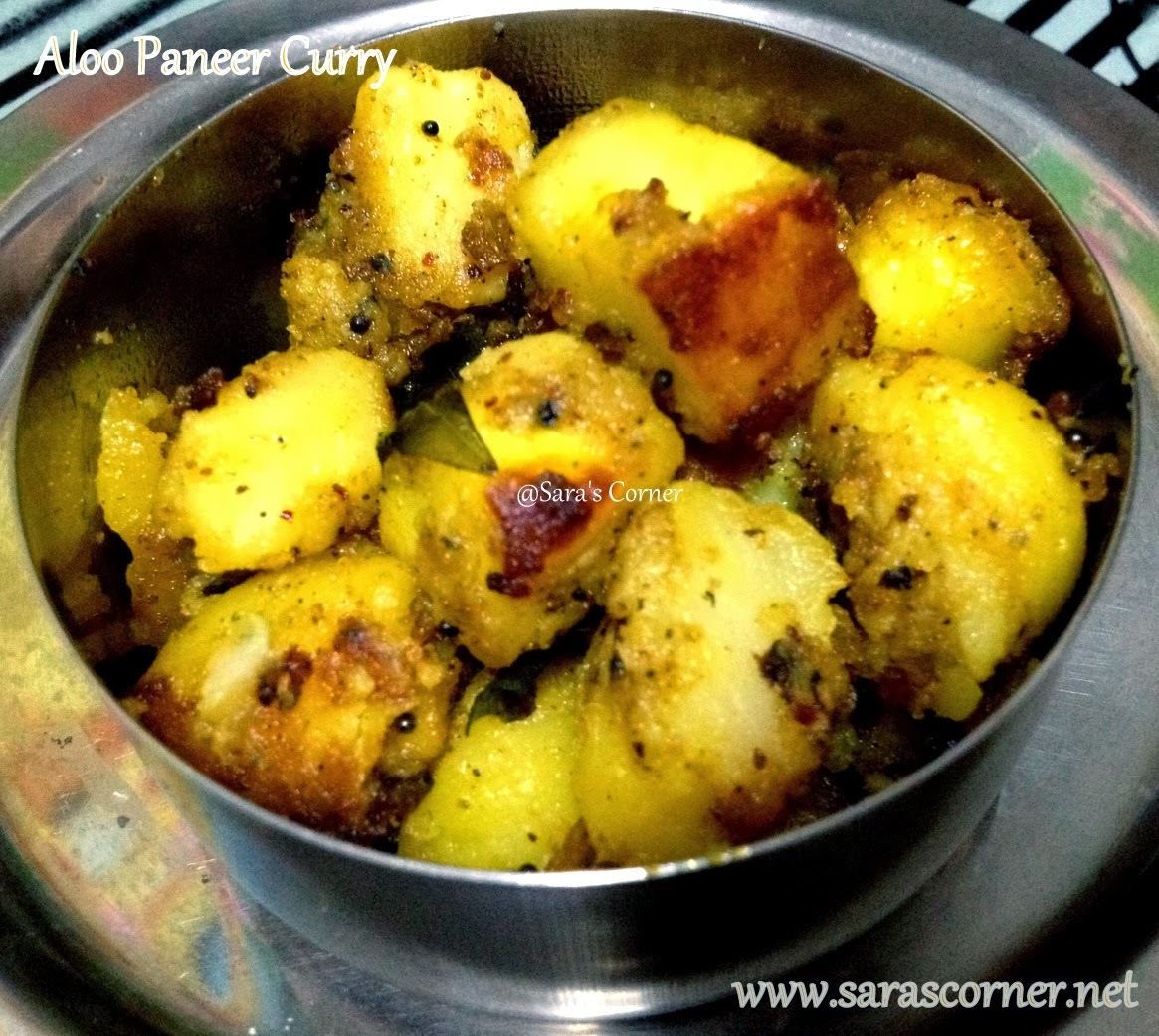 Aloo Paneer Curry | Potato Cheese Curry| North Indian sidedish!