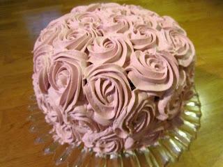 Sjokoladekake med hjertefyll! Min bursdagskake