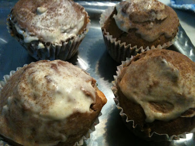 Muffins de dos chocolates - Double chocolate muffins