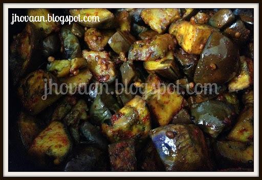 Recipe : Vankaya Vepudu / Andhra Brinjal (Aubergine) Roast -Vegan