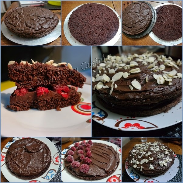 Bolo de chocolate sem glúten sem açúcar sem lacotse recheado