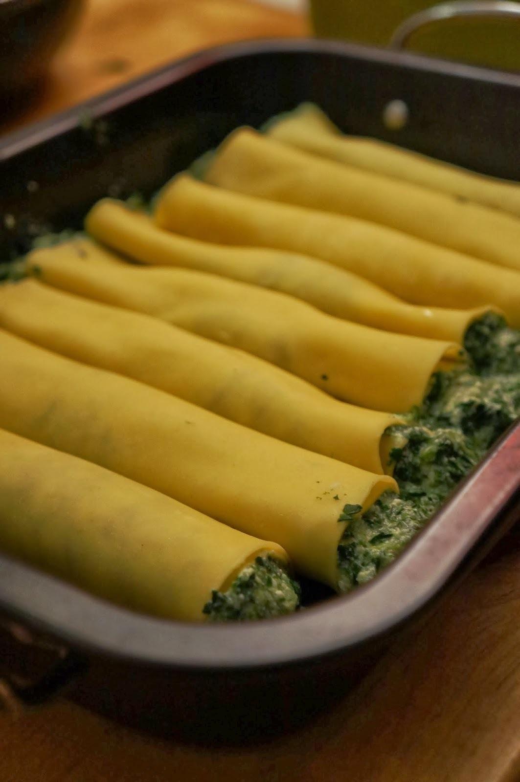 Cannellonis ricotta épinards avec la pâte à pasta Herta !