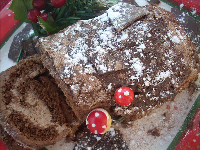 Chocolate Hazelnut Buche de Noel