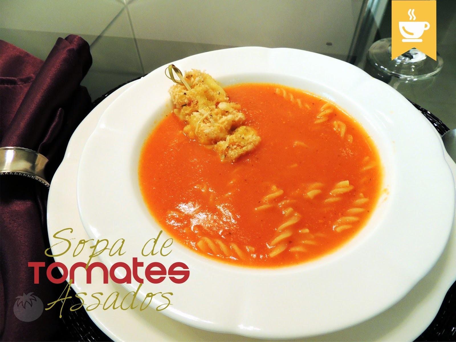 sopa de cebola e alho simples batida no liquidificador