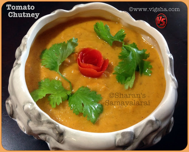 Thakkali chutney / Tomato Chutney