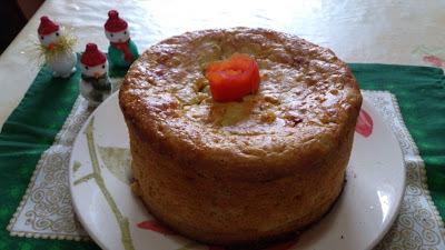 bolo salgado com papel de arroz