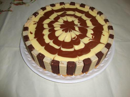 Torta de chocolate branco