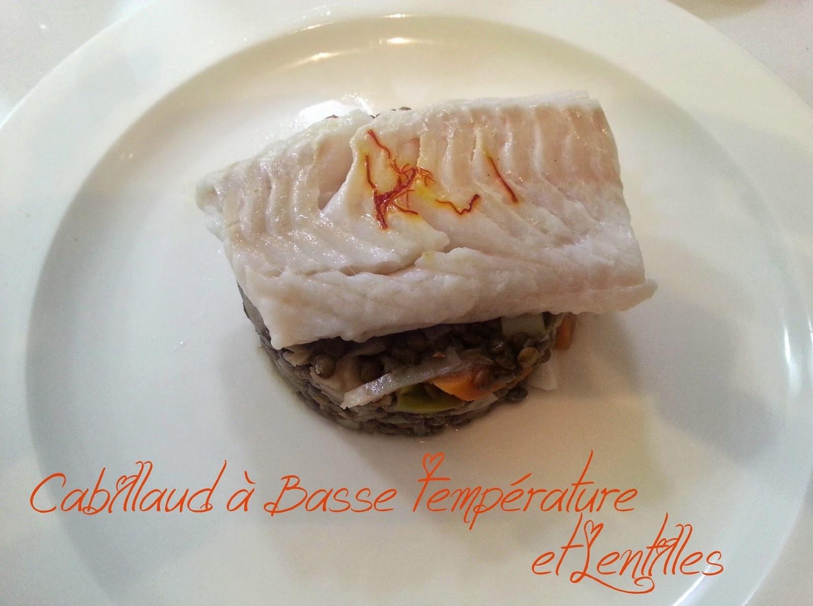 Cabillaud à Basse température et lentilleS d'Anne Sophie PIC