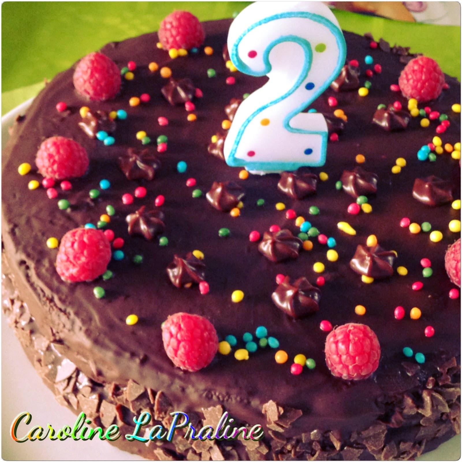 Gâteau d'Anniversaire Chocolat et Framboises