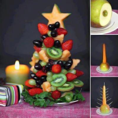 arvores de natal de frutas