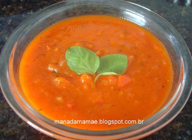 como se faz molho de tomate natural com manjericão