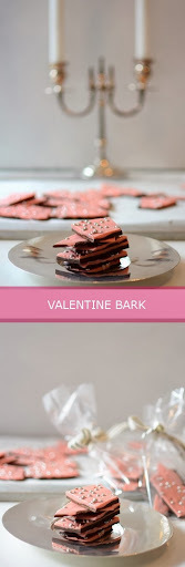 Happy Valentines & Some Pretty Valentines Candy Bark