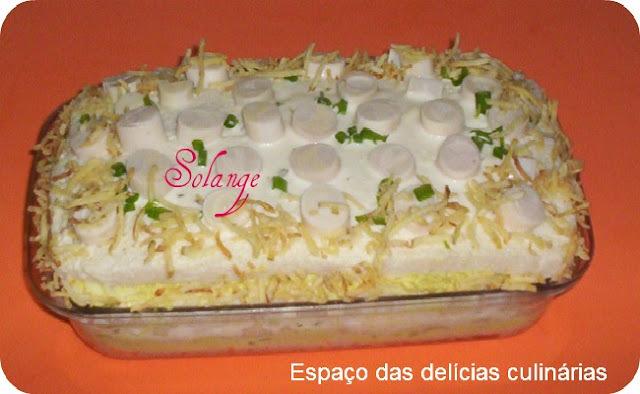 Torta fria de frango e Palmito