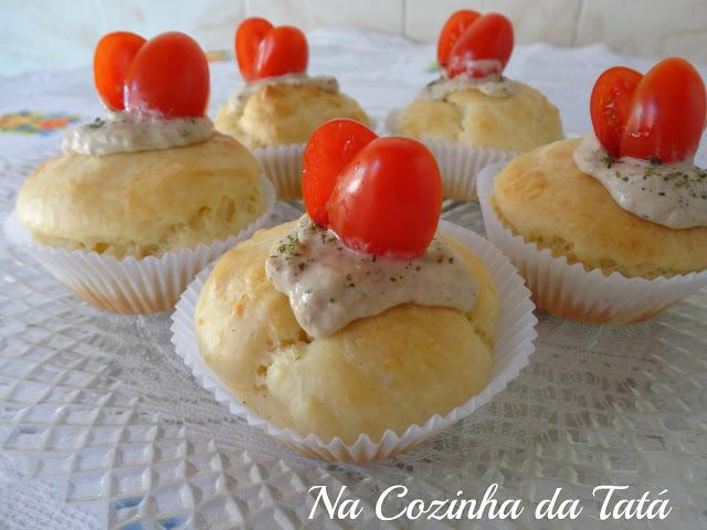cupcake salgado de atum