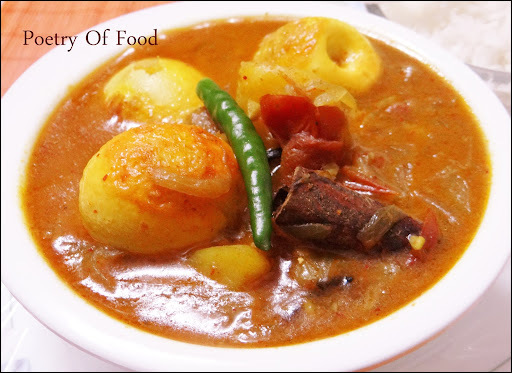 Egg &  Potato Curry..!!!