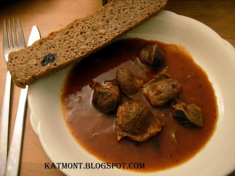 Moelas estufadas ao molho de tomate - Gésiers à la sauce tomate