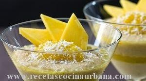 Mousse de mango cubano