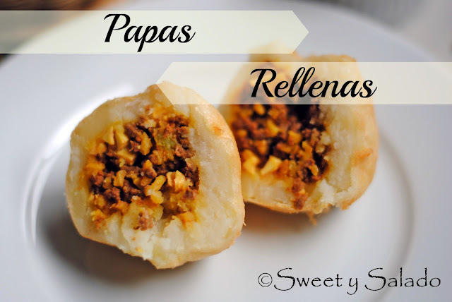 papas rellenas colombianas arroz