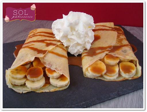 Crêpes banane et confiture de lait - Crepes de banana e doce de leite