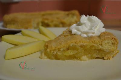 Tarta de compota de manzana