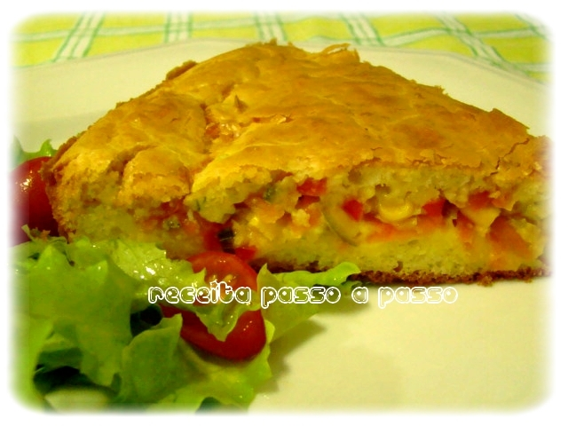 Torta Salgada Vegetariana / Vegetarian Salt Cake