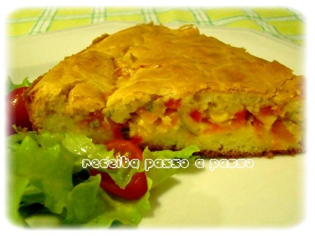 Torta Salgada Ovolactovegetariana /  Vegetarian Salt Cake