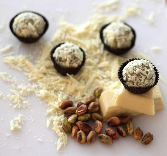 Docinho de Pistache e Chocolate Branco