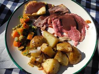 Roast beef al horno con Yorkshire pudding