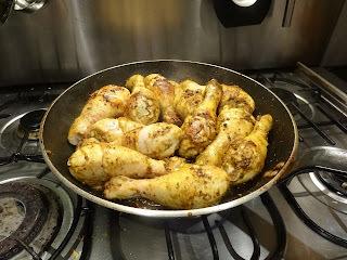 Curried Chicken Drumsticks Madras Style